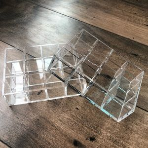 Two Pack Clear Acrylic Lipstick Holders